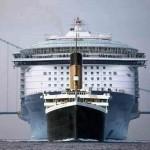 """Разница размеров """"Титаника"""" и самого крупного круизного лайнера """"Allure of the Seas""""……"""