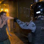 French policeman pours water woman who has decided to commit suicide, set fire to himself