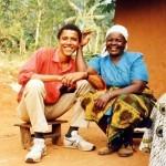 34-летний Барак Обама в гостях у своей приемной бабушки Сары Огвел Онянго в Кении, 1995 год……