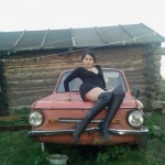 Страстная красотка с авто — russian version…