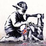 Работа британского уличного художника Бэнкси под названием «Рабский труд» недавно была продана на ча…